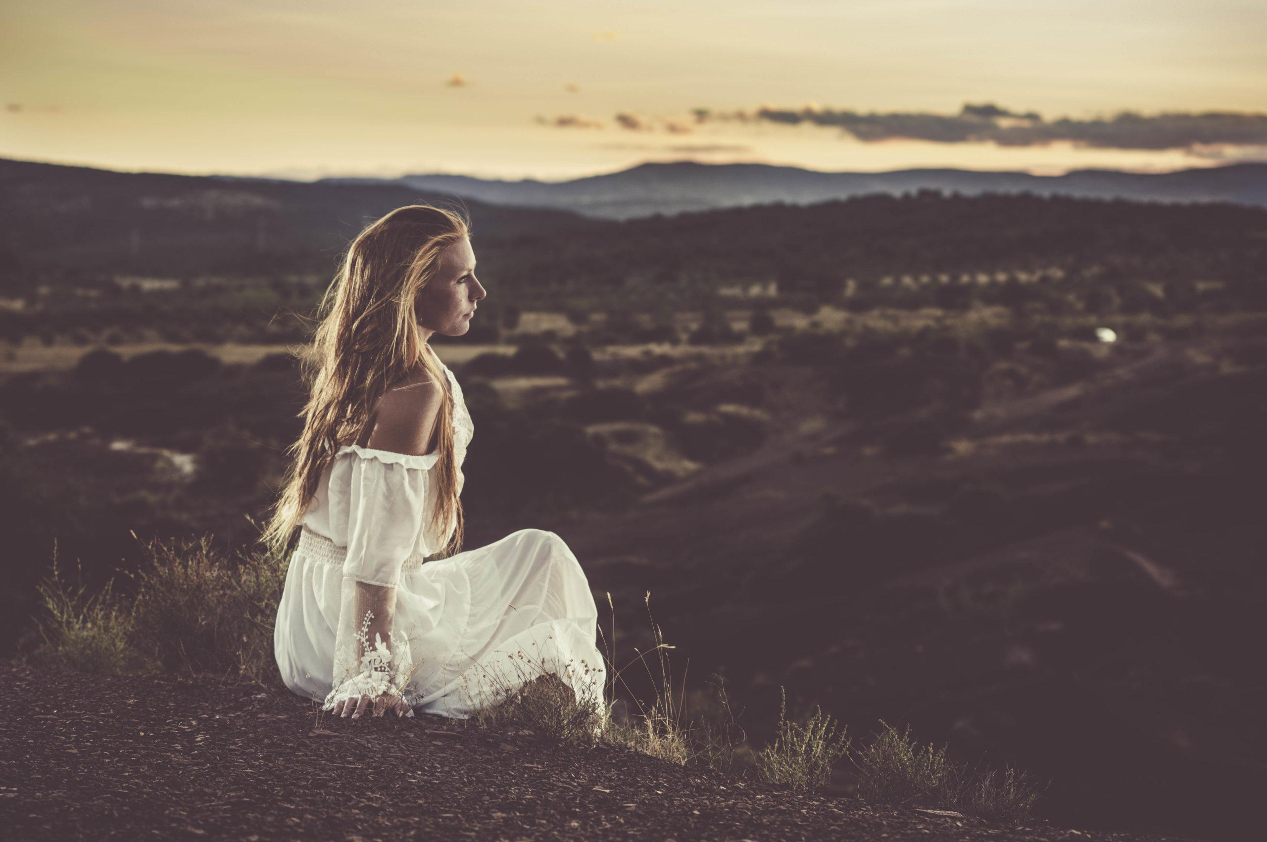 modèle photo robe blanche