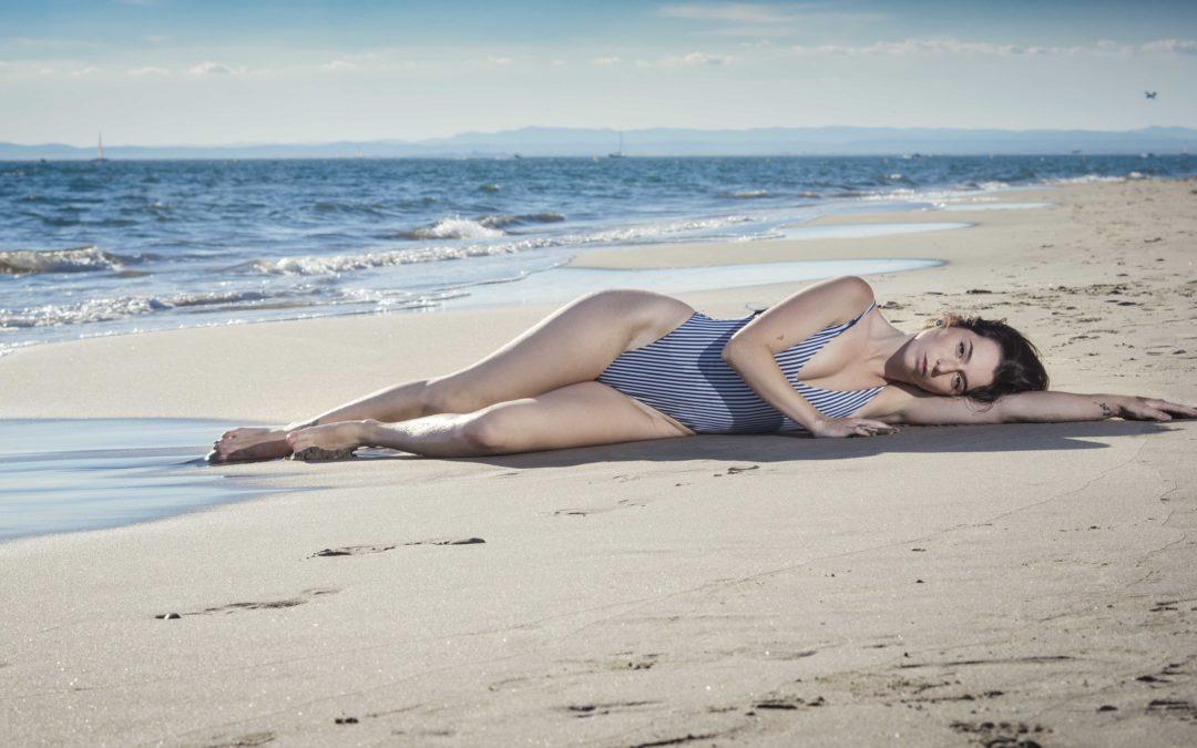 Modèle photo à la plage de l'Espiguette