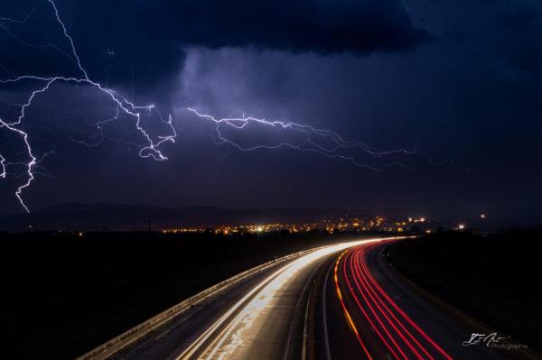 autoroute orage
