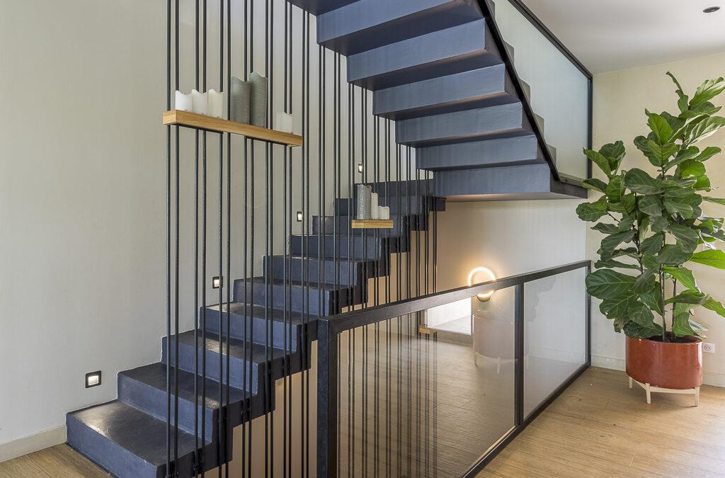 Un escalier d'architecte